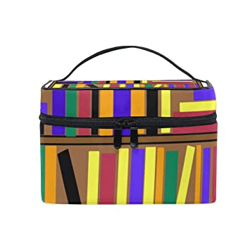 Cosmetic Bags Bookshelf Clip Art Women Wash Bag Small Storage