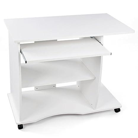 Vasagle Bureau Informatique Mobile Table D Ordinateur Clavier