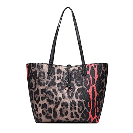 26e8c2ed37ac Amazon.com: GMYANDJB Leopard Bag Big Causal Tote Bags for Women ...