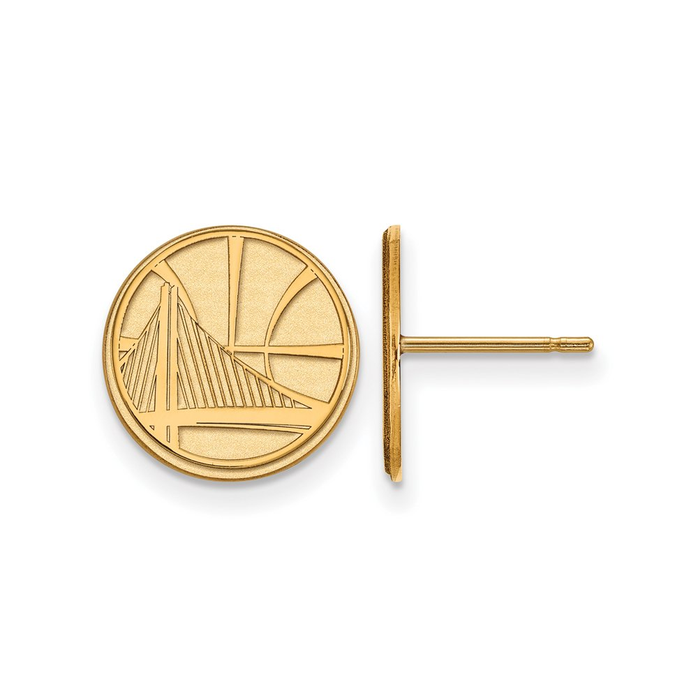 NBA Golden State Warriors Post Earrings in 14K Yellow Gold by LogoArt