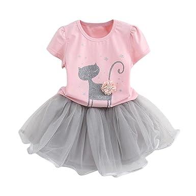 0ed3fcd4b Amazon.com  FEITONG 2017 Toddler Kids Baby Girls Cute Bow Shirt Top ...