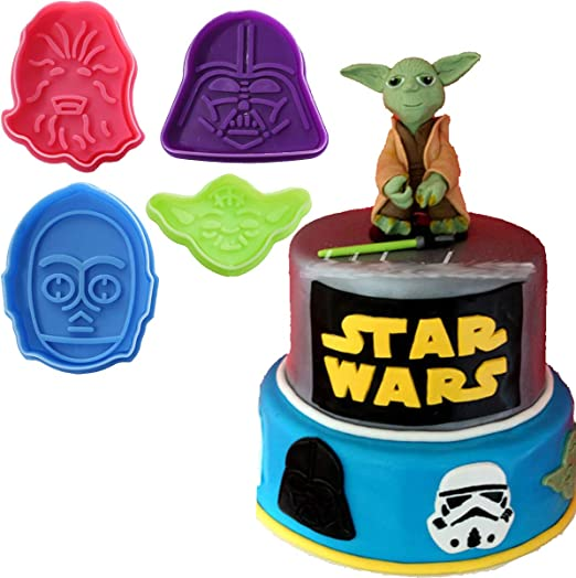 Amazon.com: anyana 4pcs Star Wars Cortador de Galletas ...