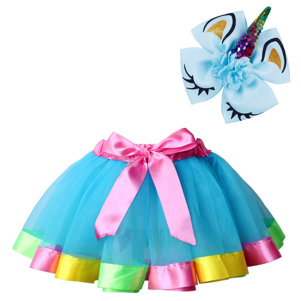 5c86fb65bb ♫A tutu and a matching unicorn hair bow included. ♫ TUTU Size  M Wasit(9.5