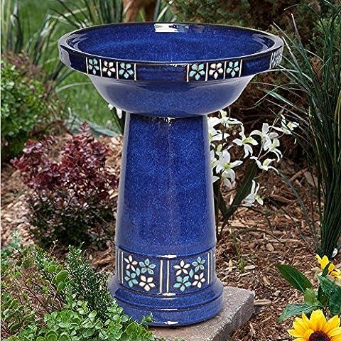 Smart Solar Ceramic Solar Bird Bath - Smart Solar Fountain