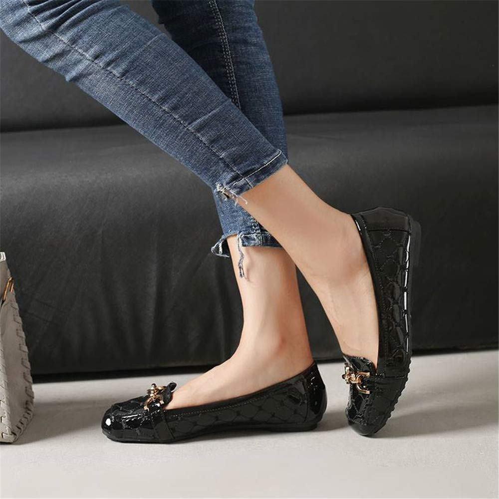 CHENSF Womens Foldable Soft Pointed Fur Ballet Flats
