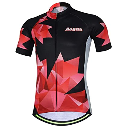 e430f1f51 Uriah Women s Bicycle Jersey Short Sleeve Reflective Autumn Red Size S