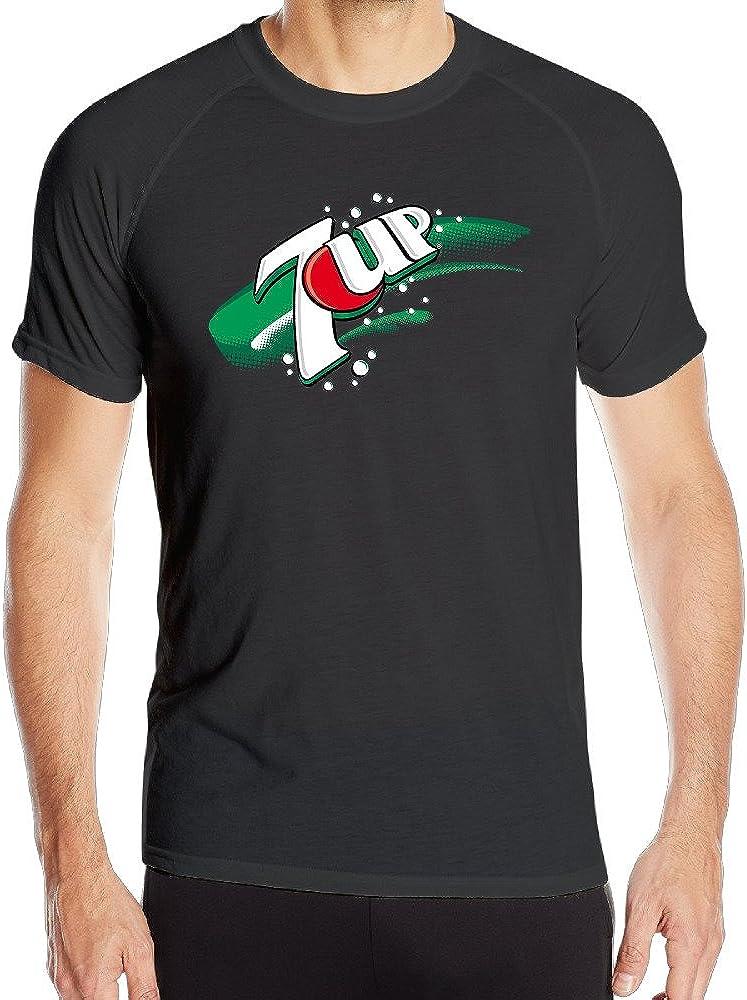 Greenday Men's 7up Logo Short Sleeve Sports Summer Tees Black