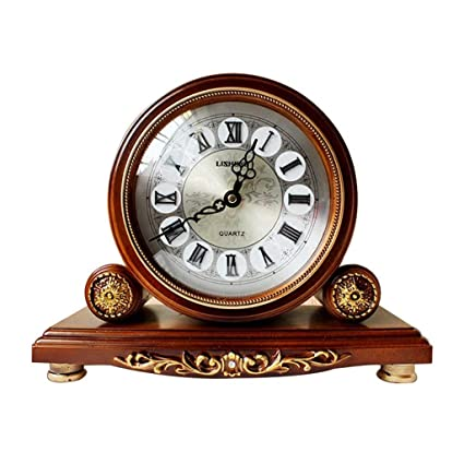 Family Fireplace Clocks Retro Tablecloth/Antique European Quartz Watch Table Clock and Decoration ó n