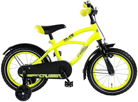 .Volare Bicicleta Niño Yellow Cruiser 14 Pulgadas Ruedas ...