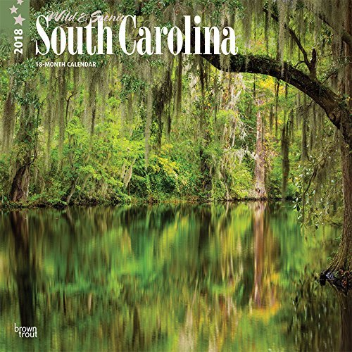 South Carolina, Wild & Scenic 2018 12 x 12 Inch Monthly Square Wall Calendar, USA United States of America Southeast State Nature (English, French and Spanish Edition)