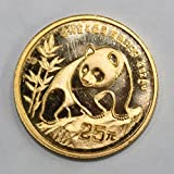 1990 CN 1/4 oz. Gold Chinese Panda 25 Yuan Proof