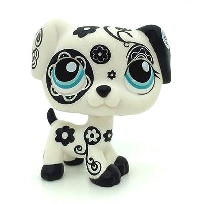 Littlest Pet Shop Collection LPS Black Flower Dalmatian Dog Toy #1613: Toys & Games