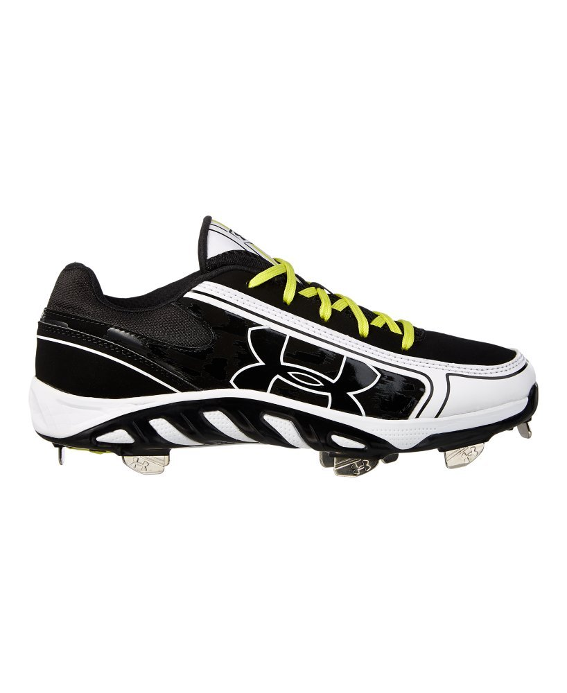 Under Armour Women's Spine Glyde St Cc Metal Fastpitch Cleat, Black/White, SZ 5.5
