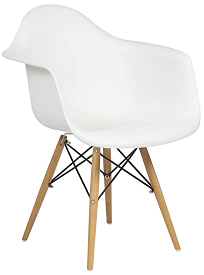 Etonnant Best Choice Products Eames Style Armchair Mid Century Modern Molded Plastic  Shell Arm Chair