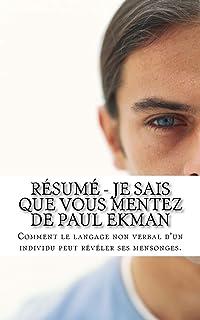 EKMAN GRATUIT JE VOUS MENTEZ PAUL SAIS QUE TÉLÉCHARGER PDF