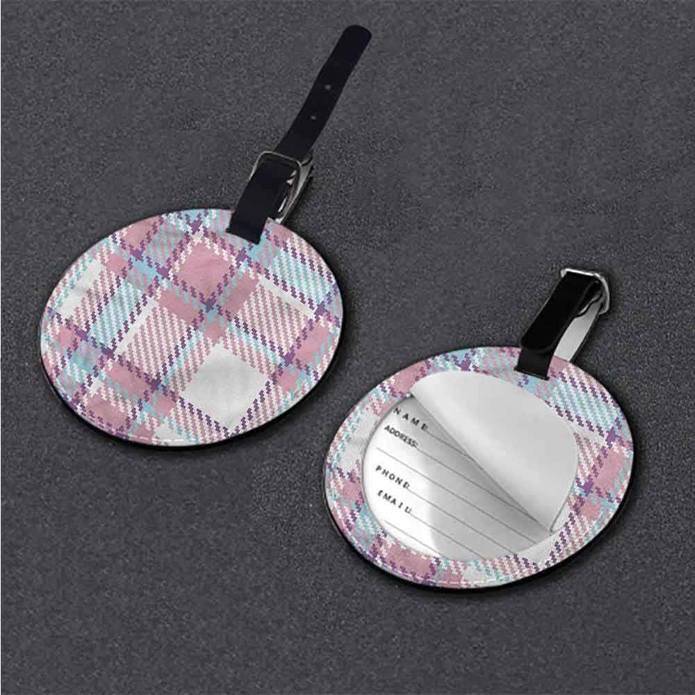 Creative Luggage Tag Checkered,Antique English Tile Holder Travel Accessories