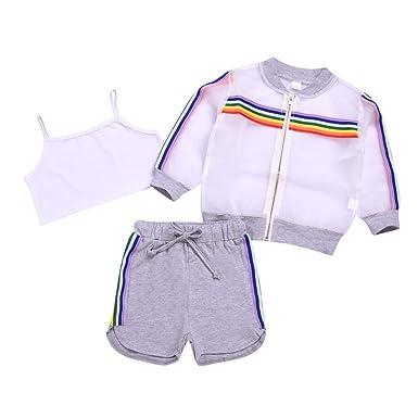 Conjuntos de Ropa para Bebés Niña de Tres Piezas: Amazon.es ...