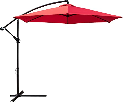 Homall 10 Ft Patio Cantilever Umbrella Outdoor Offset Hanging Market Umbrella
