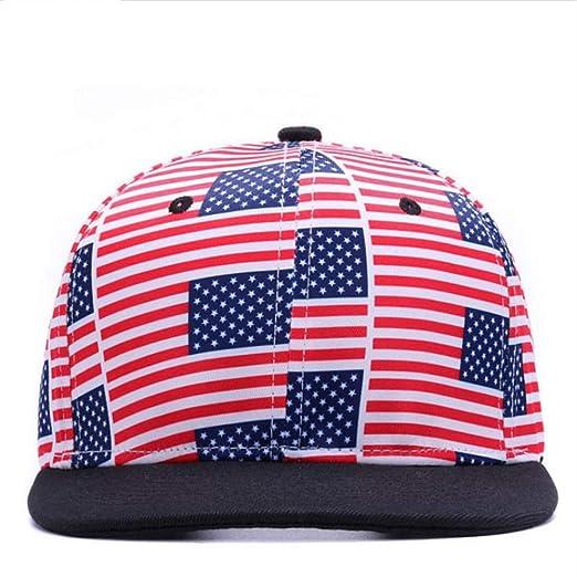 Knncch Bandera De EE. UU. Snapbacks Gorras Casuales Hip Hop ...