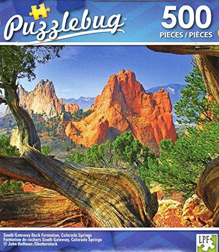 South Gateway Rock Formation, Colorado Springs - 500 Piece Jigsaw Puzzle - Puzzlebug - p - Colorado Colorado The Store Springs