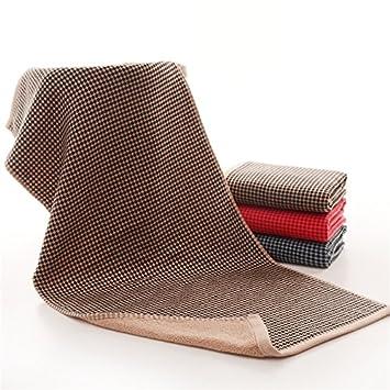 mmynl hilo algodón puro Toalla adultos lavado toallas de mano de la absorción de agua para limpiar la cara marrón 76 x 34 cm: Amazon.es: Hogar