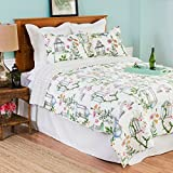 C&F Home 89915.3KSET Garden Folly Williamsburg King Size  3PC Quilt Mini Set