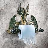 Toilet Paper Holder - Commode Dragon Tissue Tyrant Gothic Bathroom Decor - Toilet Paper Roll - Bathroom Wall Decor