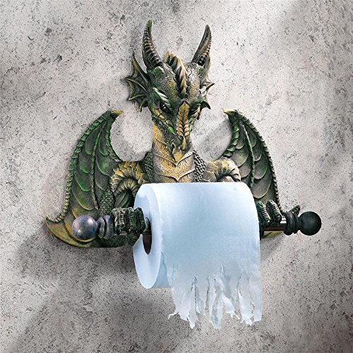 Hardware Accents Toilet Tissue Holder - Toilet Paper Holder - Commode Dragon Tissue Tyrant Gothic Bathroom Decor - Toilet Paper Roll - Bathroom Wall Decor