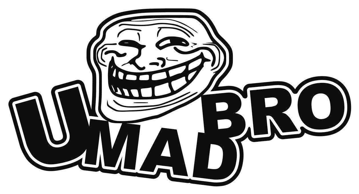 U mad bro troll face you mad jdm vinyl decal sticker custom u mad bro troll face you mad jdm vinyl decal sticker custom amazon car motorbike voltagebd Choice Image