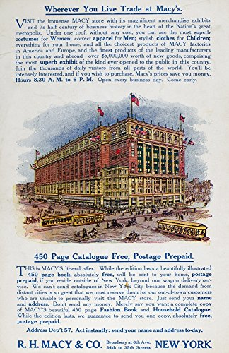 MacyS Advertisement 1910 Nadvertisement For MacyS Department Store In New York City 1910 Poster Print by (18 x 24) (Macys In New York City)