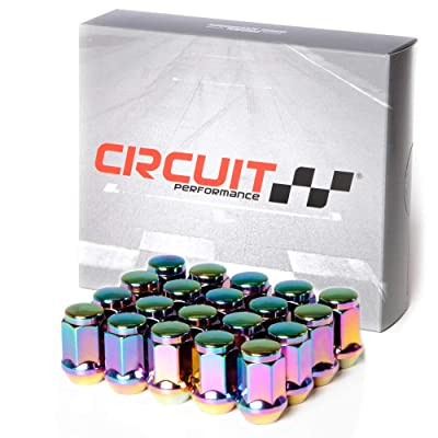Circuit Performance 12x1.5 Neo-Chrome Closed End Bulge Acorn Lug Nuts Cone Seat Forged Steel (20 Pieces): Automotive