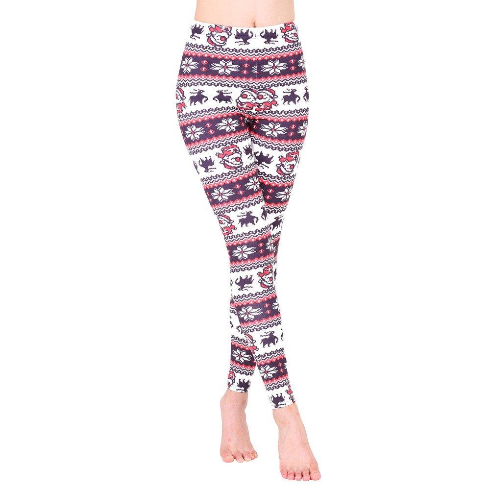 cinnamou Pantalones Mujer, Pantalon Estampados NavideñOs Leggins ...