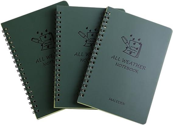 Waterproof Notebook Small Pocket Pad Tear Resistant Paper Doorman Outdoors Rain
