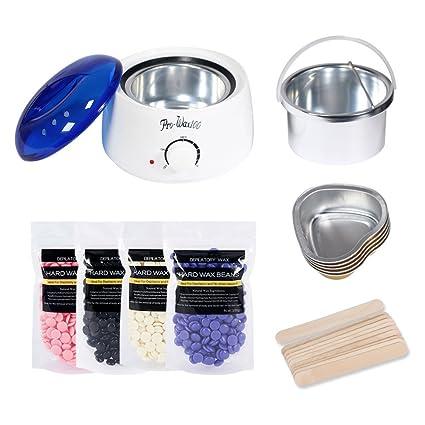Calentador de Cera Umiwe kit de depilación para el hogar pelo del cuerpo eléctrico quitar la