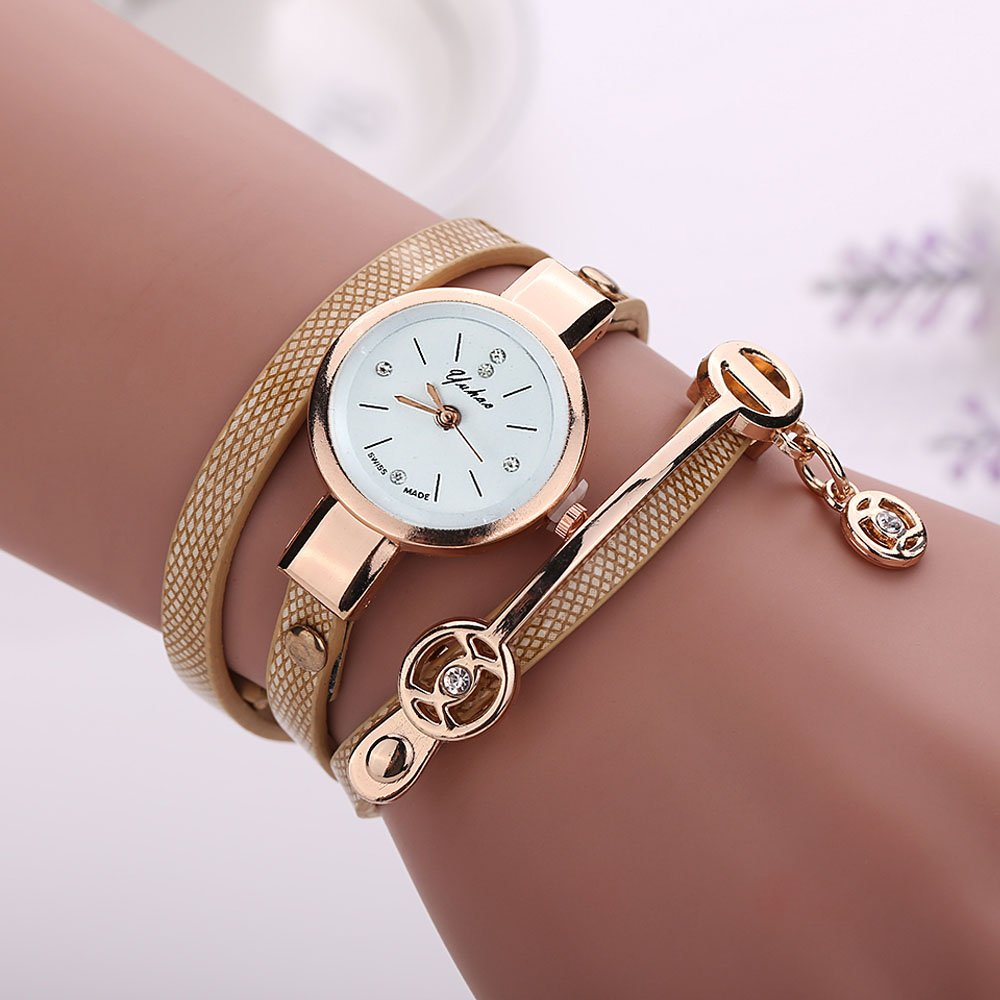 Amazon.com : Embiofuels - Relojes Mujer Women Metal Strap Wristwatch Bracelet Quartz Watch Woman Ladies Watches Clock Female Fashion Women Watches [Gold] ...