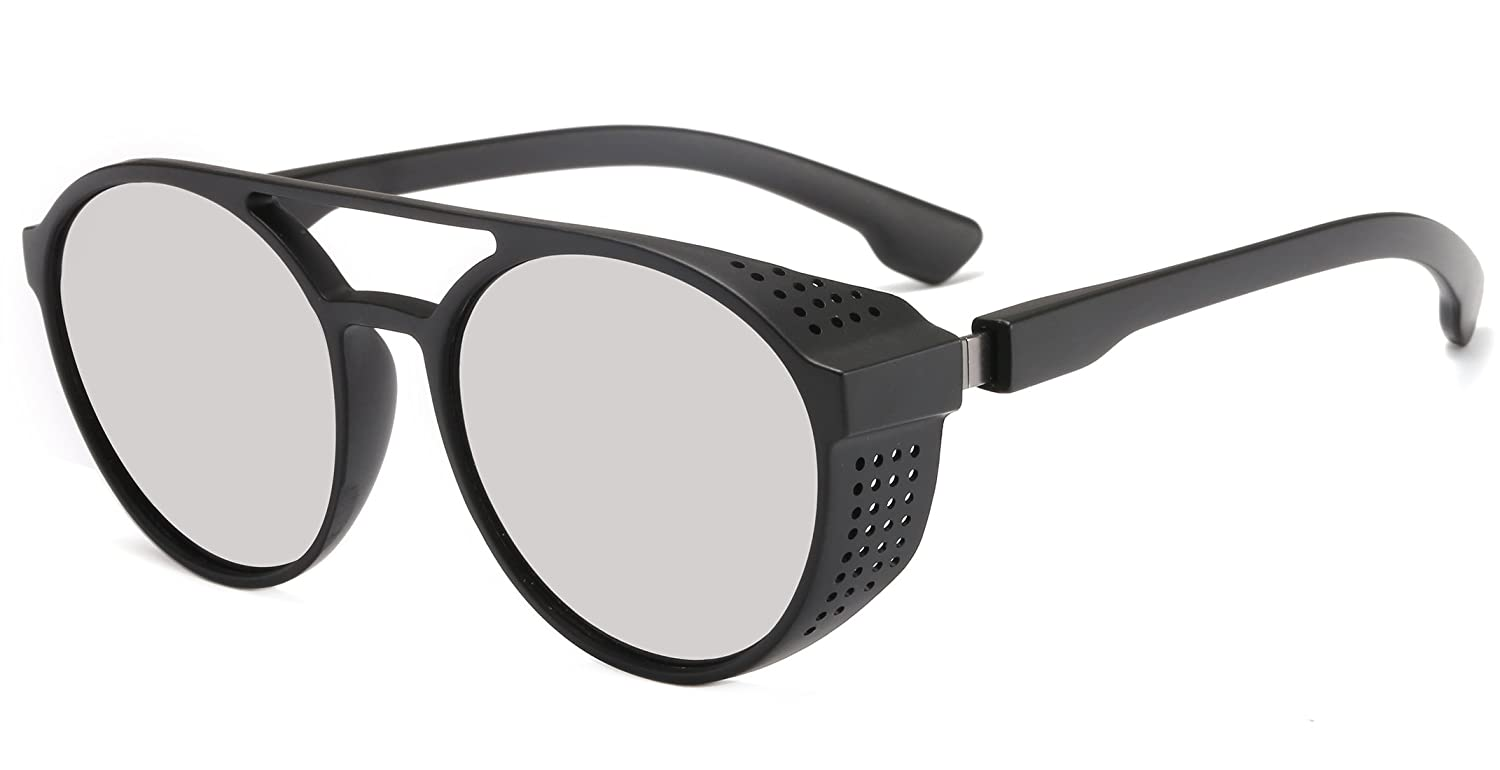 cf430405593f5 ☆UNIQUE DESIGN  This aviator sunglasses was inspired by the steampunk style