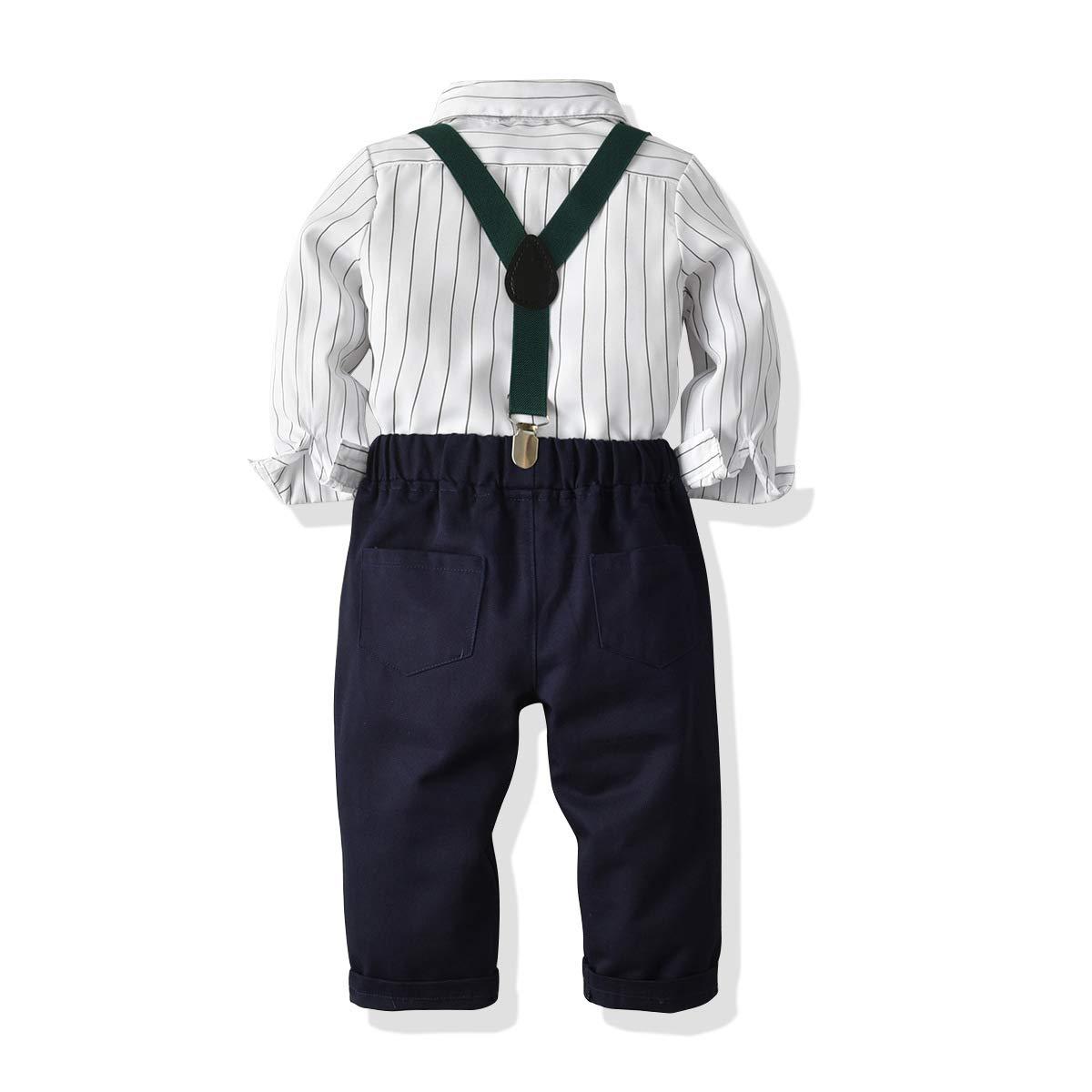 Hemd Fliege Krawatte Kinder Anzug Gentleman Festliche Hochzeit Langarm Body f/ür Fr/ühling Herbst Hose SANMIO Baby Jungen Bekleidungssets