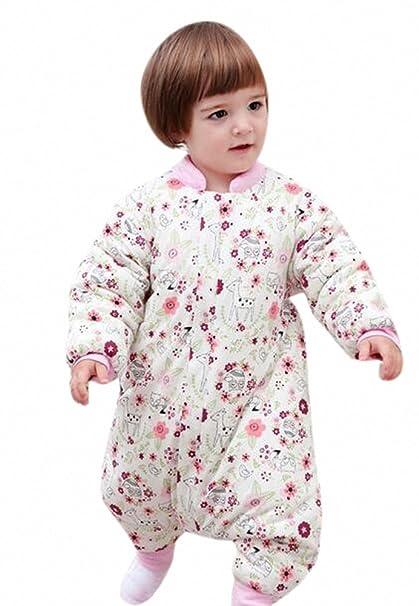 Bebé Saco de dormir con mangas largas con patas Niños Pijama de invierno de baumwollen Niño