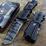 Rescue Survival Knife - Mtech Us Marines Tanto Blade Tactical Survival Rescue Knife Glass Breaker NEW