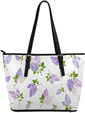 INTERESTPRINT Simple Pattern with Cactuses Women Totes Top Handle HandBags PU Leather Purse