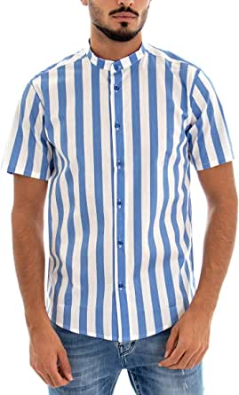 Giosal - Camisa de Manga Corta para Hombre, Modelo de Cuello ...