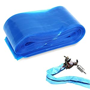 125Pcs Tattoo Clip Cord Covers, Tazay Disposable Blue Tattoo Clip Cord Sleeves Bags for Tattoo Power Clip Cord Tattoo Supplies Tattoo Kits Tattoo Machine Gun Accessories