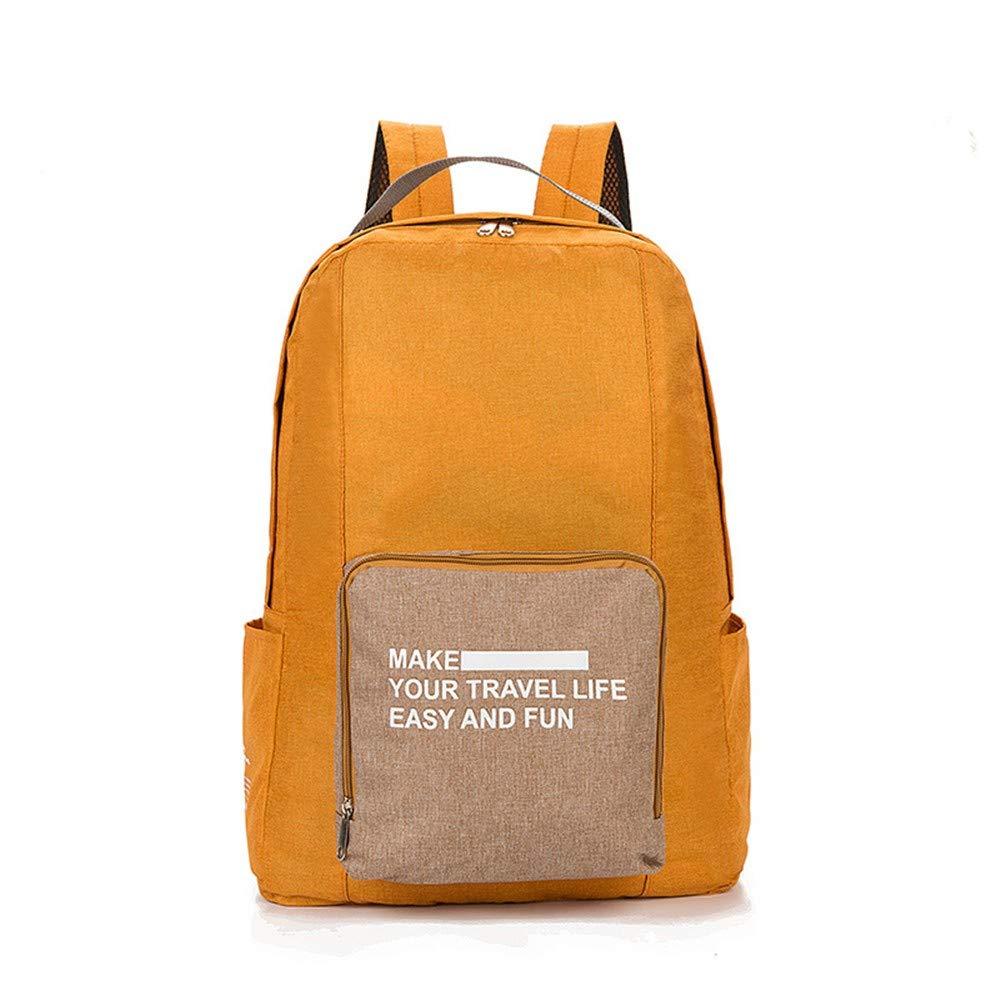 Leicht Klappbar Rucksack Haut Tasche Rucksack Outdoor Reisetasche Orange