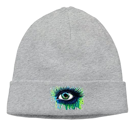 Cartoon Graffiti Tie Dye Eyes Art Mens Knit Beanies Hats For Womens Adult  Woolen Winter Trucker 6f056ef5fb0
