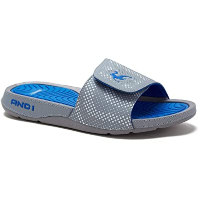 AND1 Enigma 2.0 Men's Athletic Slippers, Adjustable Width | Sport Sandals & Slides