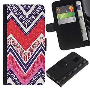 WINCASE (No Para S5 Mini) Cuadro Funda Voltear Cuero Ranura Tarjetas TPU Carcasas Protectora Cover Case Para Samsung Galaxy S5 V SM-G900 - patrón nativo de póker del arte de la pluma