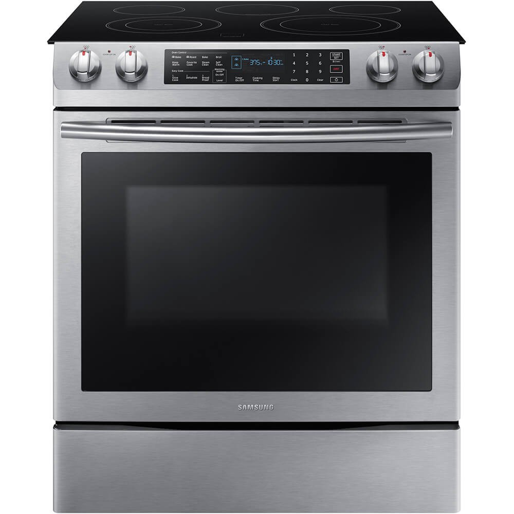 "Samsung Appliance NE58K9430SS 30"" Slide-in Electric Range with Smoothtop Cooktop, 5.8 cu. ft. Primary Oven Capacity, in Stainless Steel"