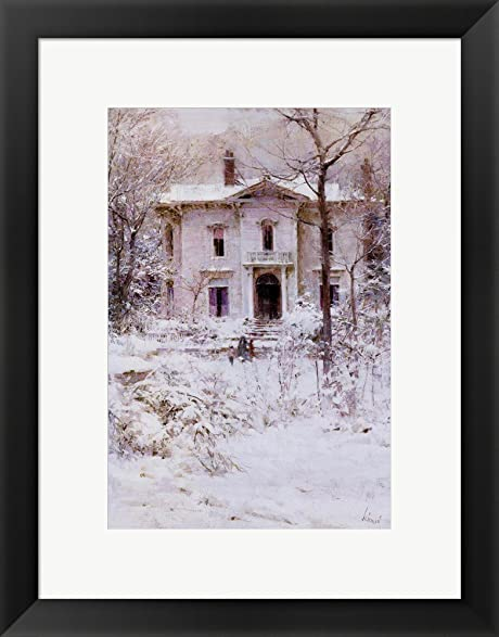 Amazon.com: Victorian Winter, 1987 by Richard Schmid Framed Art ...