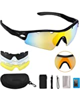 OMorc Polarized Sports Sunglasses, Solar Shield Wayfarer Goggles, UV400 Protection with TR90 Frame