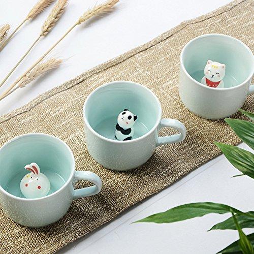ZaH 300ml 3D Animal Cup Morning Mug